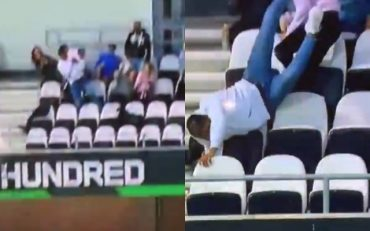 Crowd catch – The Hundred. (Photo Source: Twitter)
