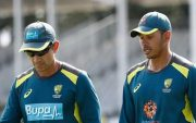 Justin Langer and Usman Khawaja. (Photo by Ryan Pierse/Getty Images)