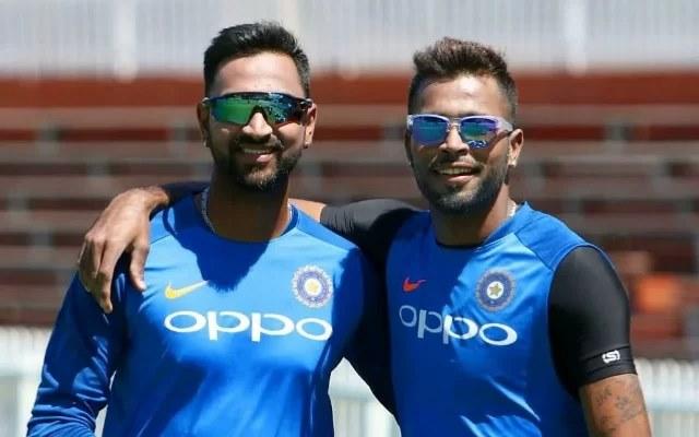 Hardik Pandya and Krunal Pandya. (Photo Source: Twitter)