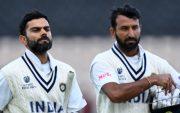 Virat Kohli and Cheteshwar Pujara. (Photo by Ryan Pierse/Getty Images)