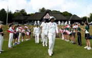 Mithali Raj of India leads her team into the field. (Photo by Ben Hoskins/Getty Images)