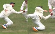 Jonny Bairstow grabbed a one-handed blinder to dismiss India's KL Rahul. (Photo Source: Twitter)