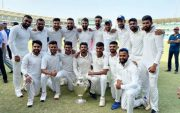 Saurashtra cricket team. (Photo Source: Twitter)