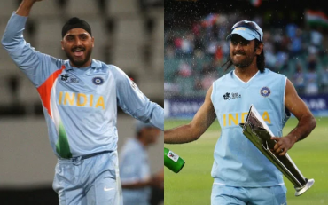 Harbhajan Singh and MS Dhoni. (Photo Source: Getty Images)