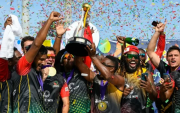 Saint Kitts & Nevis Patriots. (Photo by Randy Brooks – CPL T20/Getty Images)
