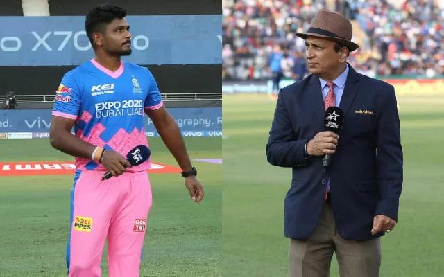 Sanju Samson and Sunil Gavaskar. (Photo Source: IPL/Getty Images)
