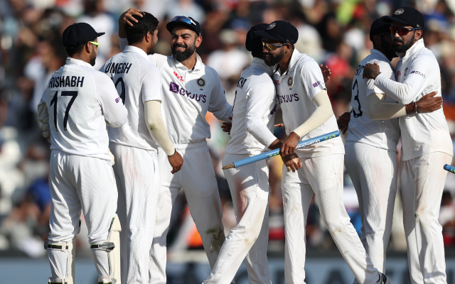 Indian Cricket Team at Oval. (Photo via Getty Images)