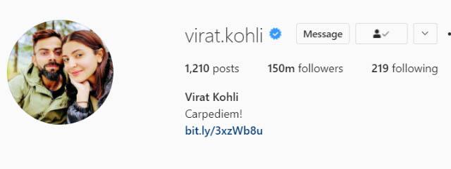 Virat Kohli. (Photo Source: Instagram)