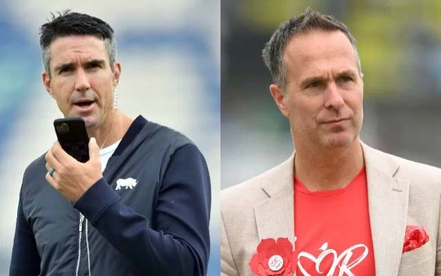 Kevin Pietersen and Michael Vaughan. (Photo Source: Getty Images)