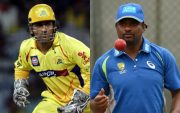 MS Dhoni And Muttiah Muralitharan. (Photo Source:Getty Images)