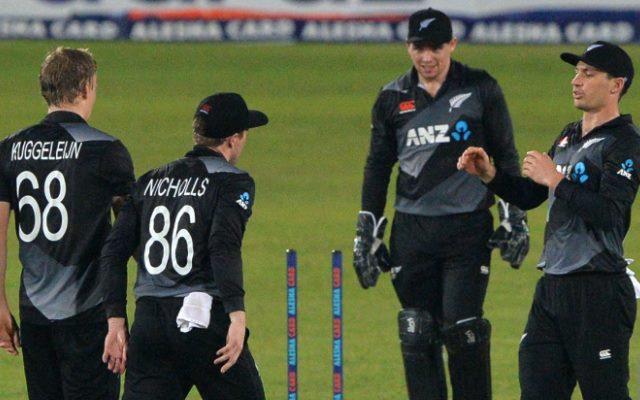 New Zealand cricket team. (Photo by MUNIR UZ ZAMAN/AFP via Getty Images)