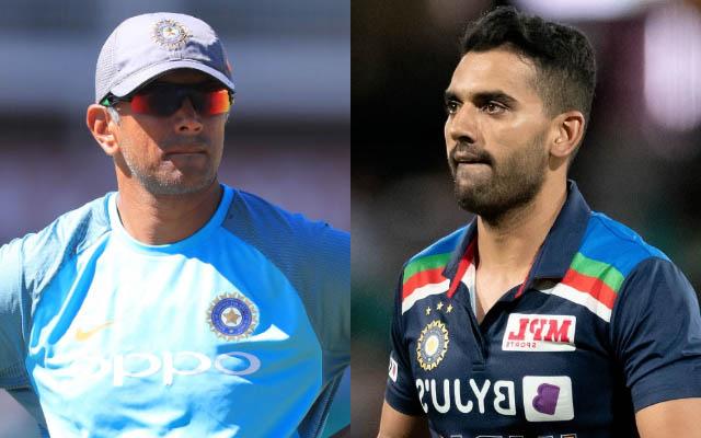 Deepak Chahar and Rahul Dravid. (Photo Source: Getty Images)