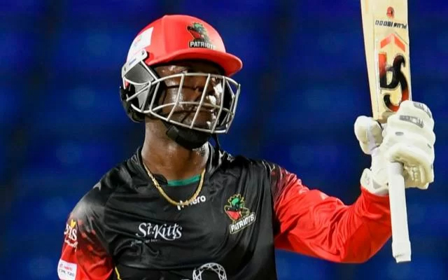 Sherfane Rutherford. (Photo by Randy Brooks – CPL T20/Getty Images)