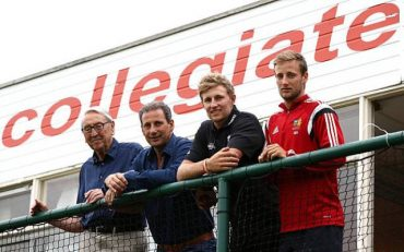 Joe Root with his grandfather Don, father Matt and brother Billy at Sheffield Collegiate. (Photo via Getty Images)