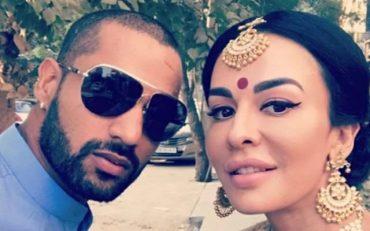 Shikhar Dhawan and Ayesha Mukherjee. (Photo Source: Twitter)