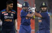 Jasprit Bumrah, KL Rahul and Rishabh Pant. (Photo Source: Getty Images)