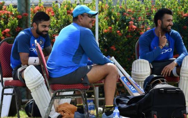 Virat Kohli, Ravi Shastri And Rohit Sharma (Image Credit- Getty Images)