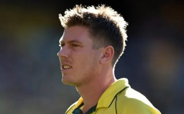 Australian cricketer James Faulkner walks back to his run-up during the 2015 Cricket World Cup final between Australia and New Zealand in Melbourne on March 29, 2015. AFP PHOTO / INDRANIL MUKHERJEE — IMAGE RESTRICTED TO EDITORIAL USE – STRICTLY NO COMMERCIAL USE– (Photo credit should read INDRANIL MUKHERJEE/AFP/Getty Images)