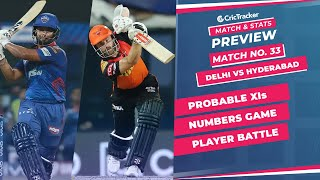 IPL 2021: Match 33, DC vs SRH Predicted Playing 11, Match Preview & Head to Head Record - Sep 22nd