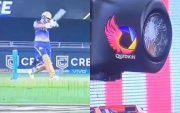Nitish Rana batting. (Photo Source: Twitter)