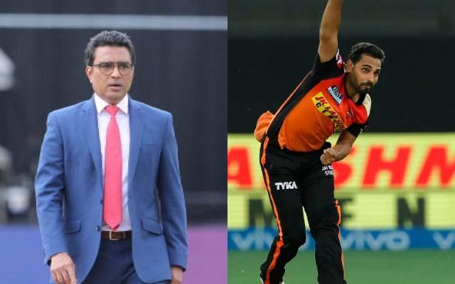 Sanjay Manjrekar And Bhuvneshwar Kumar. (Photo Source: