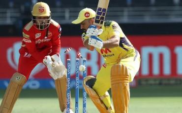 MS Dhoni bowled by Ravi Bishnoi. (Photo Source: IPL/BCCI)