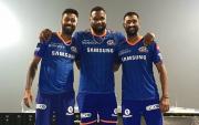 Hardik Pandya, Kieron Pollard and Krunal Pandya. (Photo Source: Twitter)