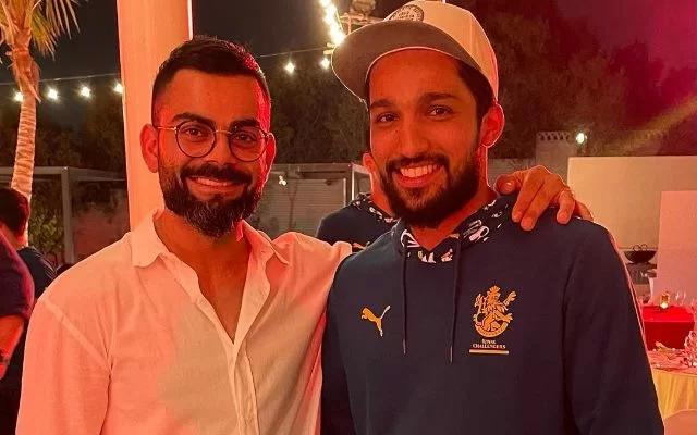 Mohammed Azharuddeen and Virat Kohli. (Photo Source: Instagram)