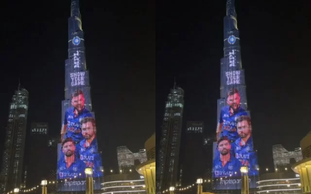 Team India's jersey launched in Burj Khalifa. (Photo Source: Instagram)