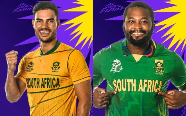 South Africa jersey for T20 World Cup 2021. (Photo Source: Twitter/ICC)