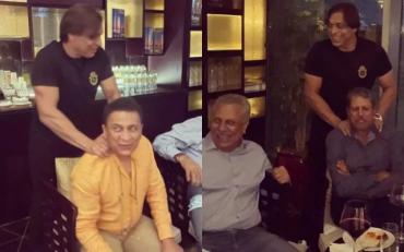 Shoaib Akhtar, Sunil Gavaskar and Kapil Dev. (Photo Source: Twitter/Shoaib Akhtar)