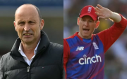 Nasser Hussain and Eoin Morgan. (Photo Source: Getty Images)