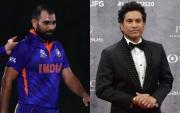 Mohammed Shami and Sachin Tendulkar. (Photo Source: Getty Images)