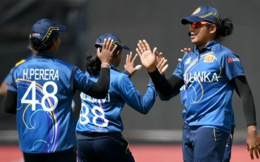 Sri Lanka women. (Photo by Morgan Hancock/NurPhoto via Getty Images)