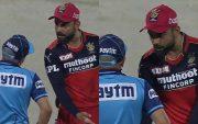 Virat Kohli and Umpire (Photo Source: Disney+Hotstar)