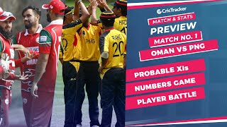 T20 World Cup - Match 1, Oman vs PNG, Winner Prediction, Predicted XI, Stats, CricTracker