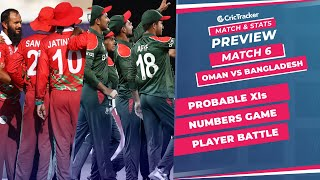 T20 World Cup 2021 - Match 6I, Oman vs Bangladesh, Predicted Playing XIs & Stats Preview