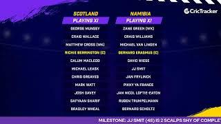 T20 World Cup Match 21 Cricket Live - Scotland vs Namibia Pre Match Analysis